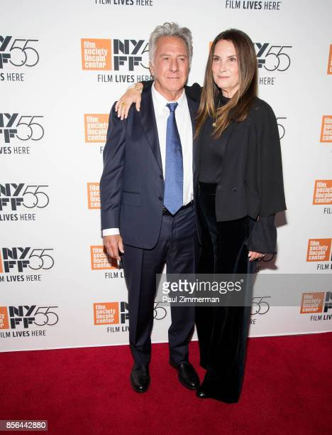 Actor Dustin Hoffman and Lisa Hoffman attend the 55th New York Film Festival screening of 'Meyerowitz Stories' at Alice Tully Hall on October 1 2017...