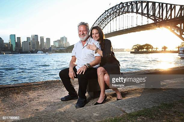 Actor Dustin Hoffman and Lisa Hoffman pose during a photo shoot in Sydney New South Wales
