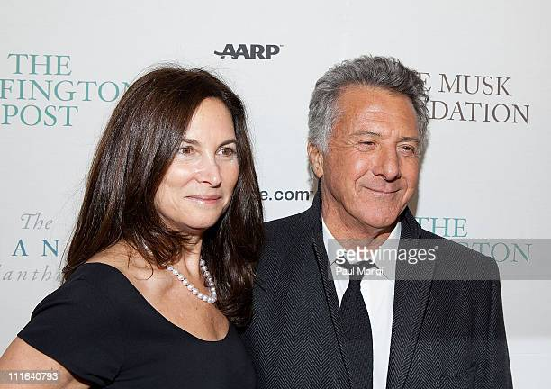 Actor Dustin Hoffman and wife Lisa attend The Huffington Post preinaugural ball at the Newseum on January 19 2009 in Washington DC