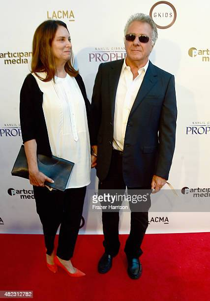 Actor Dustin Hoffman and wife Lisa Gottsegen arrive at the Screening of GKIDS' 'Kahlil Gibran's The Prophet' at Bing Theatre At LACMA on July 29 2015...