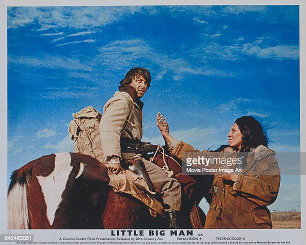 Actor Dustin Hoffman appears on the poster for the film 'Little Big Man' 1970