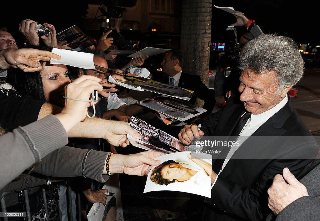 Actor Dustin Hoffman arrives at 'Barney's Version' screening during AFI FEST 2010 presented by Audi held at Egyptian Theatre on November 6, 2010 in Hollywood, California.