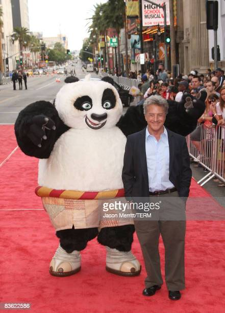 Actor Dustin Hoffman arrives at the DVD release of 'Kung Fu Panda' debut of 'Secrets of the Furious Five' on November 9 2008 in Hollywood California