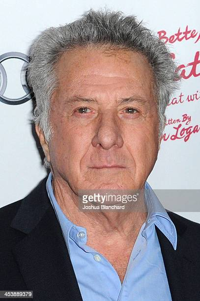 Actor Dustin Hoffman arrives at the Geffen Playhouse for the opening night of 'I'll Eat You Last A Chat with Sue Mengers' with Bette Midler on...