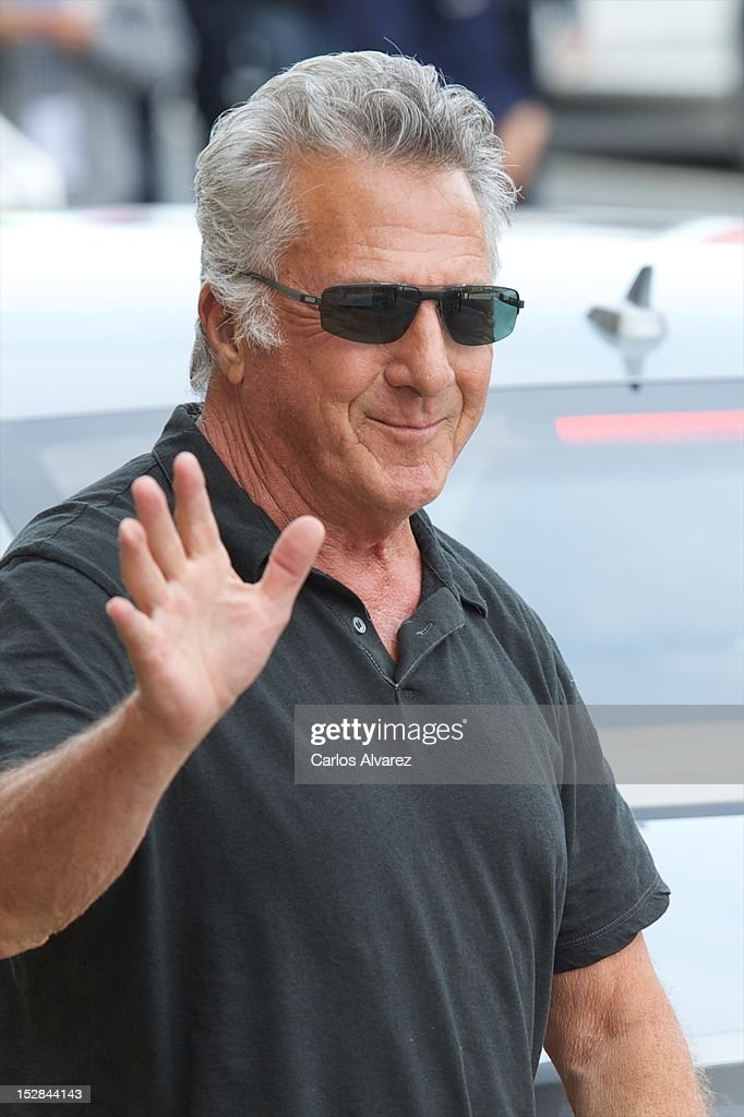 Actor <a gi-track='captionPersonalityLinkClicked' href=/galleries/search?phrase=Dustin+Hoffman&family=editorial&specificpeople=171356 ng-click='$event.stopPropagation()'>Dustin Hoffman</a> arrives at the Maria Cristina Hotel during 60th San Sebastian International Film Festival on September 27, 2012 in San Sebastian, Spain.