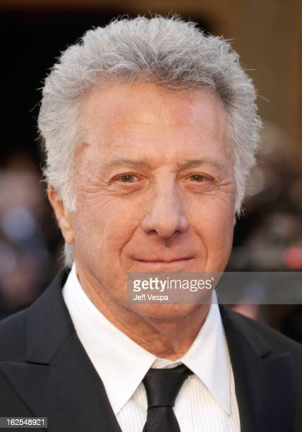 Actor Dustin Hoffman arrives at the Oscars at Hollywood Highland Center on February 24 2013 in Hollywood California