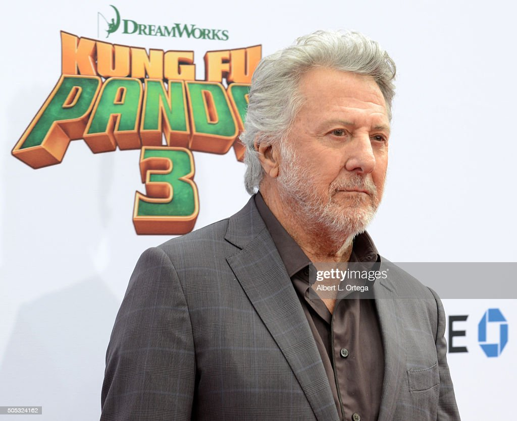Actor Dustin Hoffman arrives for the Premiere Of DreamWorks Animation And Twentieth Century Fox's 'Kung Fu Panda 3' held at TCL Chinese Theatre on January 16, 2016 in Hollywood, California.