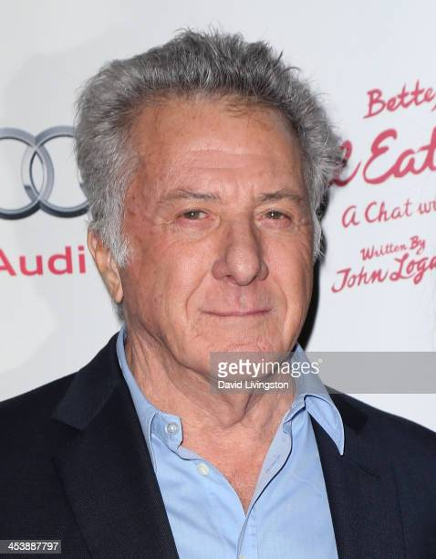 Actor Dustin Hoffman attends opening night of Bette Midler in 'I'll Eat You Last A Chat with Sue Mengers' at the Geffen Playhouse on December 5 2013...