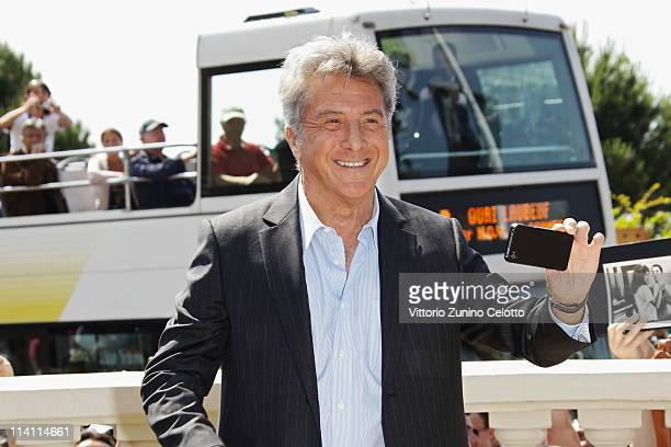 Actor Dustin Hoffman attends the 'Kung Fu Panda 2' photocall during the 64th Annual Cannes Film Festival at the Carlton Hotel on May 12 2011 in...