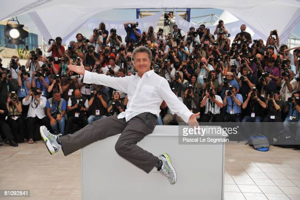 Actor Dustin Hoffman attends the photocall for 'Kung Fu Panda' during the Cannes International Film Festival on May 15 2008 in Cannes France