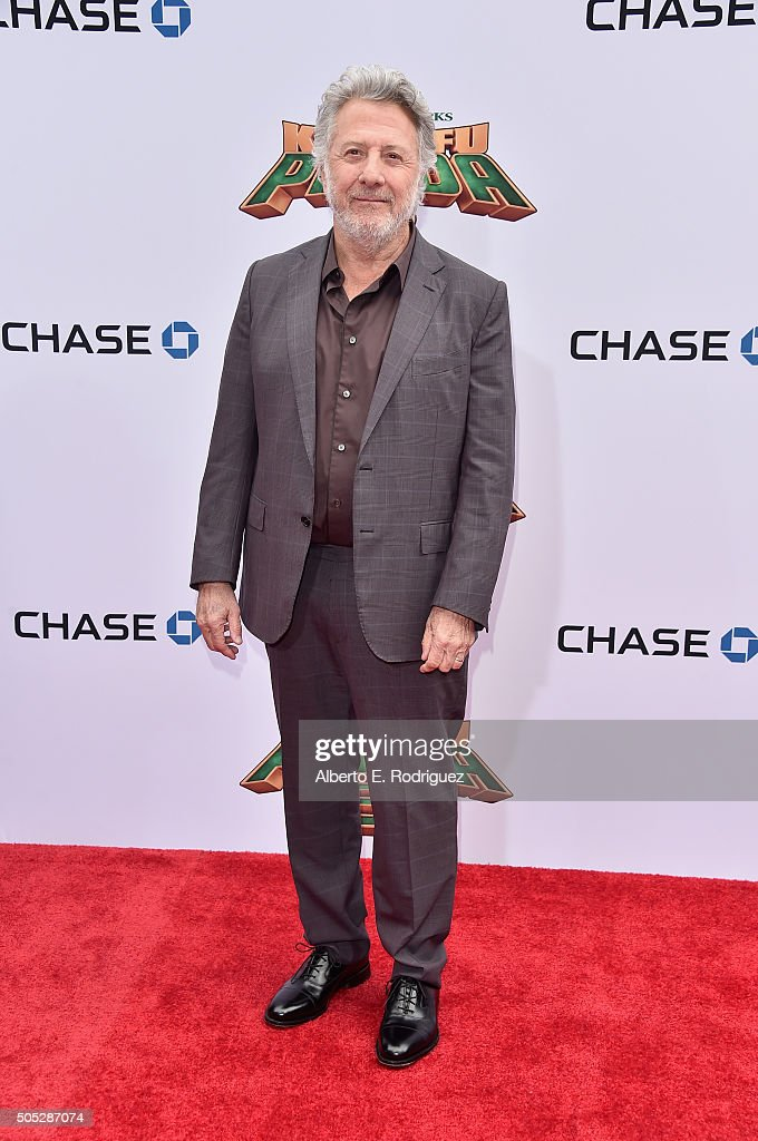Actor <a gi-track='captionPersonalityLinkClicked' href=/galleries/search?phrase=Dustin+Hoffman&family=editorial&specificpeople=171356 ng-click='$event.stopPropagation()'>Dustin Hoffman</a> attends the premiere of DreamWorks Animation and Twentieth Century Fox's 'Kung Fu Panda 3' at TCL Chinese Theatre on January 16, 2016 in Hollywood, California.