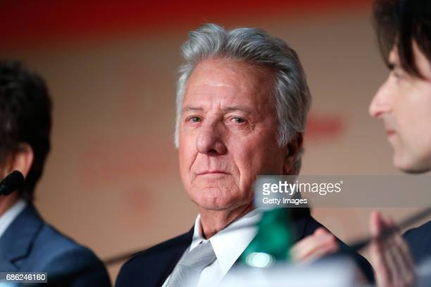 Actor Dustin Hoffman attends the 'The Meyerowitz Stories' press conference during the 70th annual Cannes Film Festival at Palais des Festivals on May...