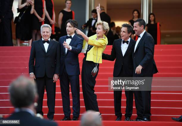 Actor Dustin Hoffman director Noah Baumbach actress Emma Thompson actor Ben Stiller and actor Adam Sandler of 'The Meyerowitz Stories' attend the...