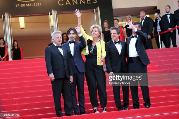 Actor Dustin Hoffman director Noah Baumbach actress Emma Thompson actor Ben Stiller and actor Adam Sandler of 'The Meyerowitz Stories' attend the...
