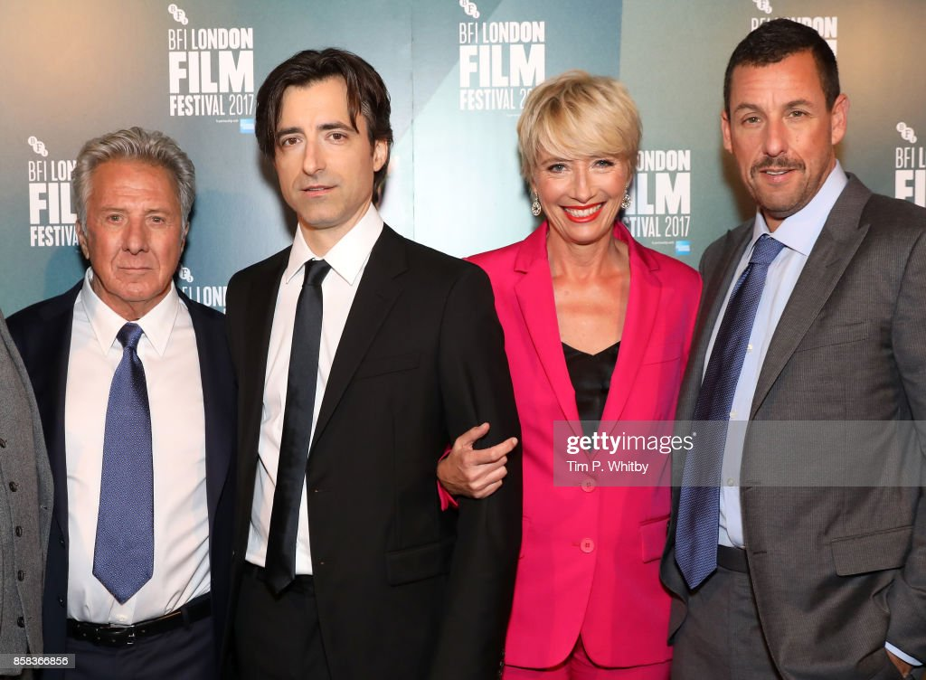 Actor Dustin Hoffman, director Noah Baumbach and actors Emma Thompson and Adam Sandler attend the Laugh Gala and UK Premiere of 'The Meyerowitz Stories' during the 61st BFI London Film Festival on October 6, 2017 in London, England.