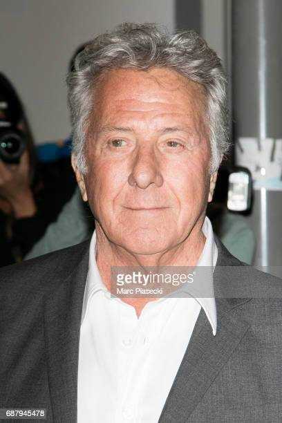 Actor Dustin Hoffman is spotted during the 70th annual Cannes Film Festival at the 'Vanity Fair CHANEL' dinner at Tetou restaurant on May 24 2017 in...