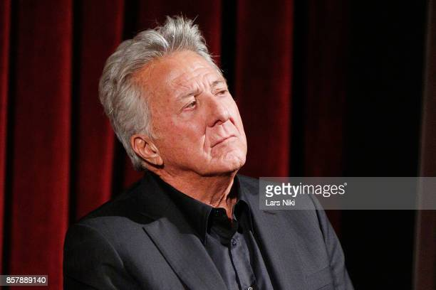 Actor Dustin Hoffman on stage during the QA for The Academy of Motion Picture Arts Sciences official academy screening of The Meyerowitz Stories at...