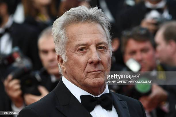 US actor Dustin Hoffman poses as he arrives on May 21 2017 for the screening of the film 'The Meyerowitz Stories ' at the 70th edition of the Cannes...