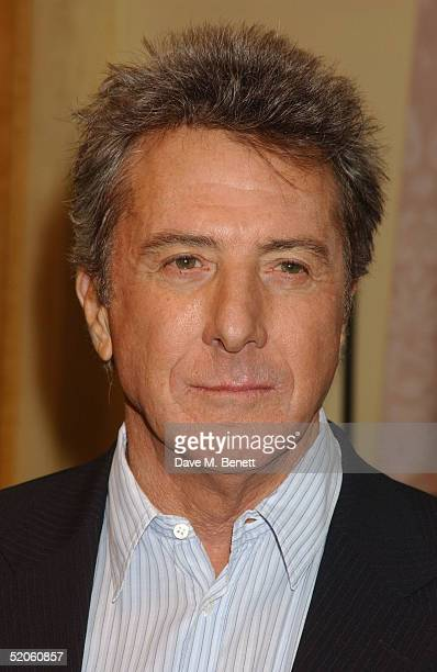 Actor Dustin Hoffman poses at the 'Meet The Fockers' Press Junket at The Dorchester Hotel on January 25 2005 in London The film is the sequel to...