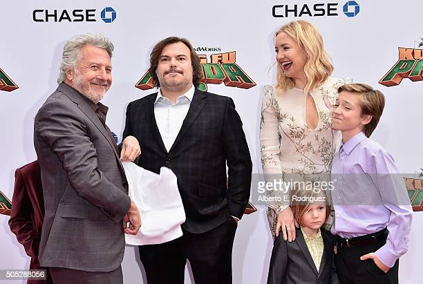 Actor Dustin Hoffman Samuel Jason Black actor Jack Black actress Kate Hudson Bingham Hawn Bellamy and Ryder Robinson attend the premiere of...