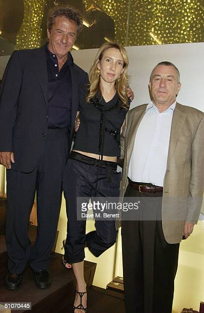 Actor Dustin Hoffman with artist Sam TaylorWood and actor Robert De Niro attend an exclusive dinner for the launch of the new Prada Epicenter Store...