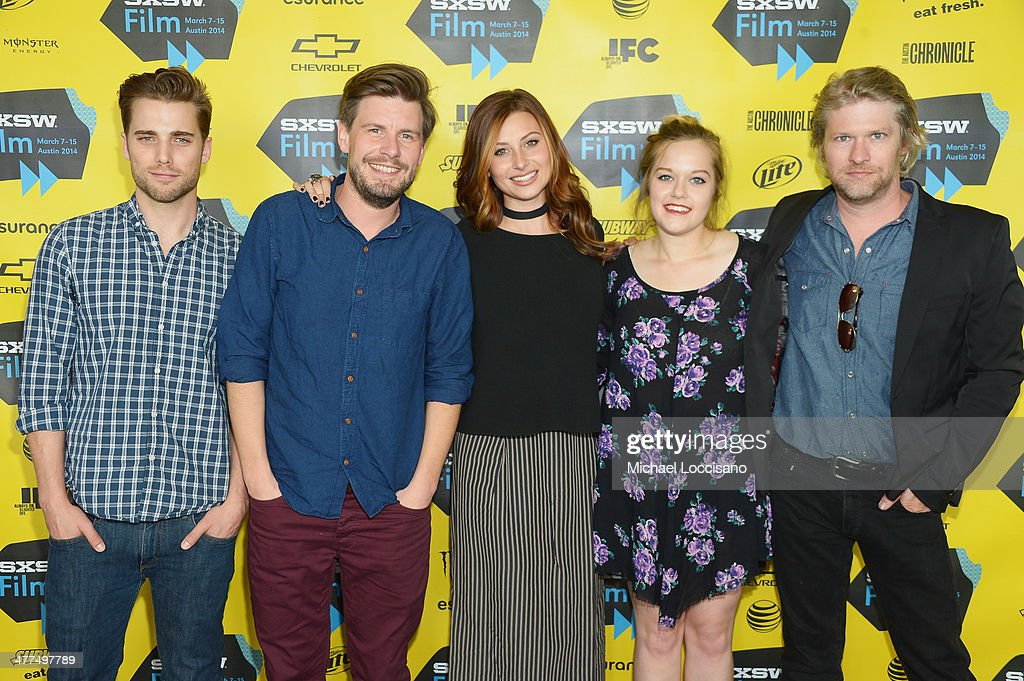 Actor Dustin Milligan, director Andy Landen, and actors Aly Michalka, Sophi Bairley and Todd Lowe attend the 'Sequoia' premiere during the 2014 SXSW Music, Film + Interactive Festival at the Topfer Theatre at ZACH on March 9, 2014 in Austin, Texas.