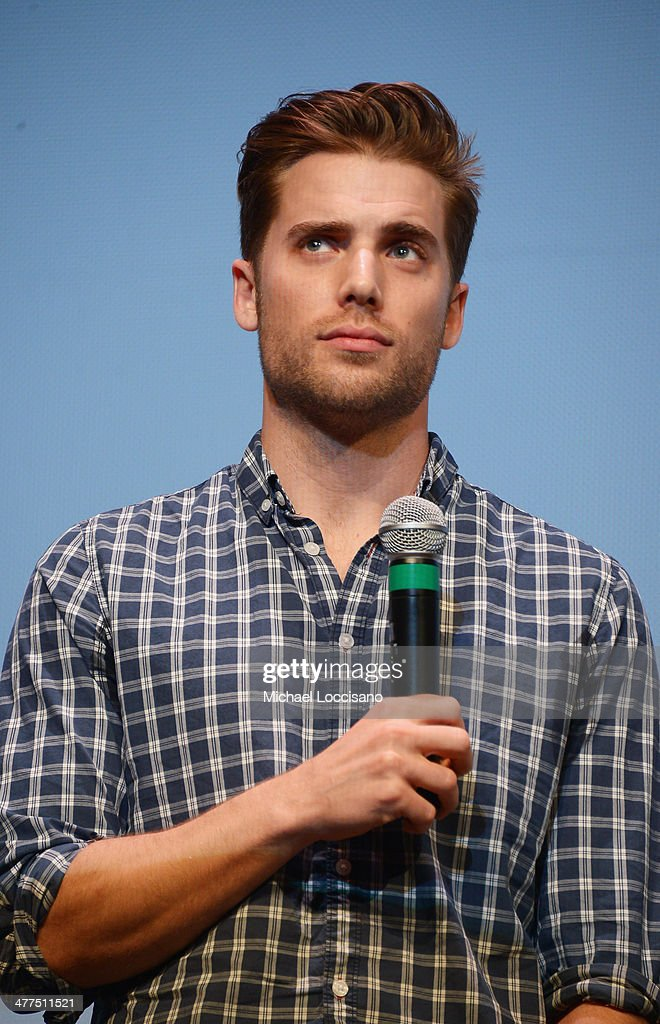 Actor Dustin Milligan takes part in a Q&A following the 'Sequoia' premiere during the 2014 SXSW Music, Film + Interactive Festival at the Topfer Theatre at ZACH on March 9, 2014 in Austin, Texas.