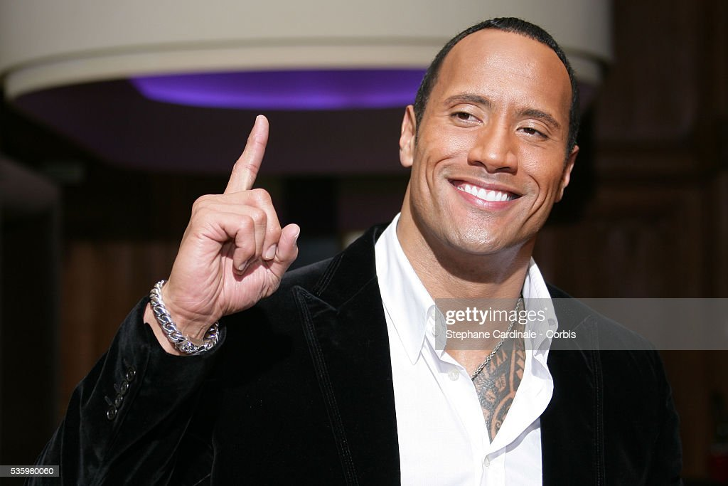 US actor Dwayne Douglas Johnson aka The Rock attends a photocall for 'Doom' in Paris.