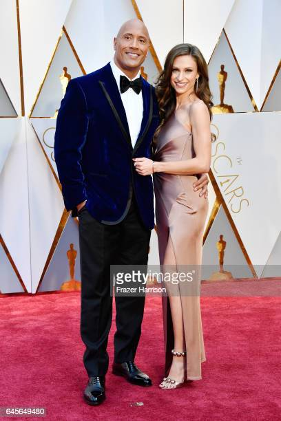 Actor Dwayne Johnson and Lauren Hashian attend the 89th Annual Academy Awards at Hollywood Highland Center on February 26 2017 in Hollywood California