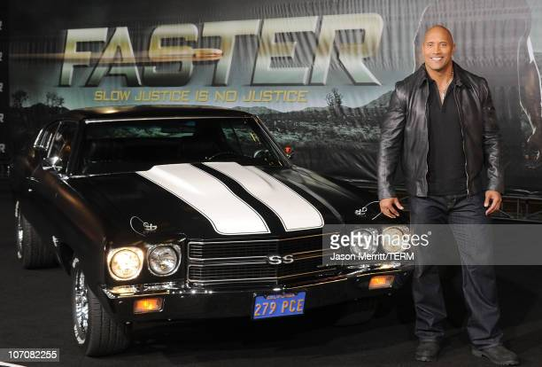 Actor Dwayne Johnson arrives at the 'Faster' Los Angeles Premiere at Grauman's Chinese Theatre on November 22 2010 in Hollywood California