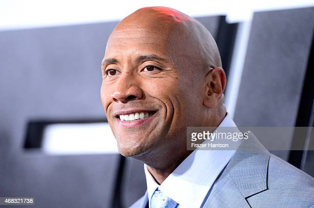 Actor Dwayne Johnson arrives at Universal Pictures Premiere of 'Furious 7'' at the TLC Chinese Theatre Hollywood on April 1 2015 in Los AngelesCA