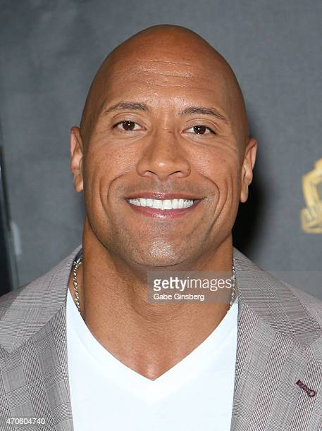 Actor Dwayne Johnson arrives at Warner Bros Pictures presents The Big Picture during CinemaCon 2015 at The Colosseum at Caesars Palace on April 21...
