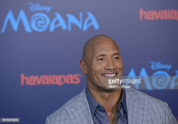 Actor Dwayne Johnson arrives for the AFI FEST 2016 Presented By Audi Premiere Of Disney's 'Moana' held at the El Capitan Theatre on November 14 2016...