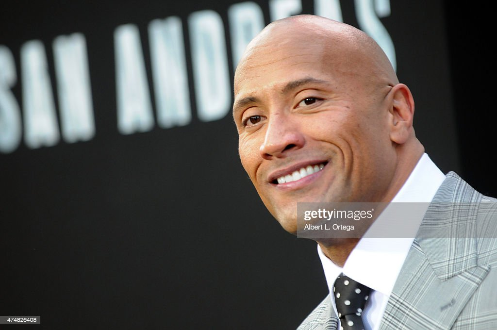 Actor Dwayne Johnson arrives for the Premiere Of Warner Bros. Pictures' 'San Andreas' held at TCL Chinese Theatre on May 26, 2015 in Hollywood, California.