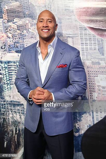 Actor Dwayne Johnson attends 'San Andreas' premiere at UME Cinema on May 29 2015 in Beijing China