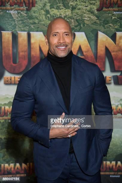 Actor Dwayne Johnson attends the 'Jumanji' Welcome to the Jungle Jumanji Bienvenue dans la jungle' Paris Premiere at Le Grand Rex on December 5 2017...