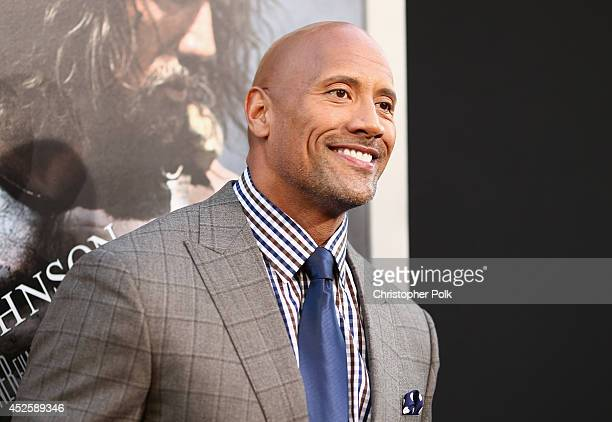 "Actor Dwayne Johnson attends the premiere of Paramount Pictures' ""HERCULES"" at TCL Chinese Theatre on July 23 2014 in Hollywood California"
