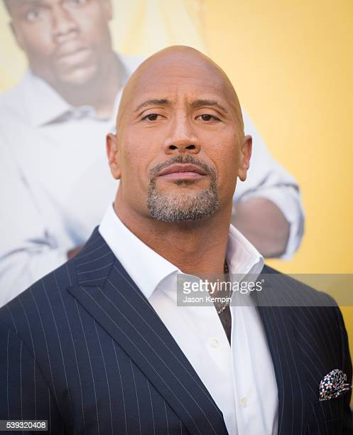 Actor Dwayne Johnson attends the premiere of Warner Bros Pictures' 'Central Intelligence' at Westwood Village Theatre on June 10 2016 in Westwood...
