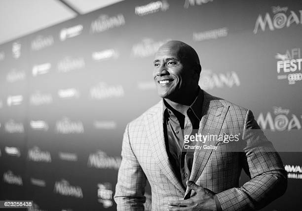 Actor Dwayne Johnson attends The World Premiere of Disney's 'MOANA' at the El Capitan Theatre on Monday November 14 2016 in Hollywood CA