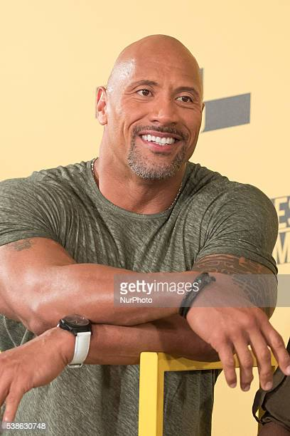 Actor Dwayne Johnson attends 'Un espia y medio' photocall at Villamagna hotel on June 7 2016 in Madrid Spain