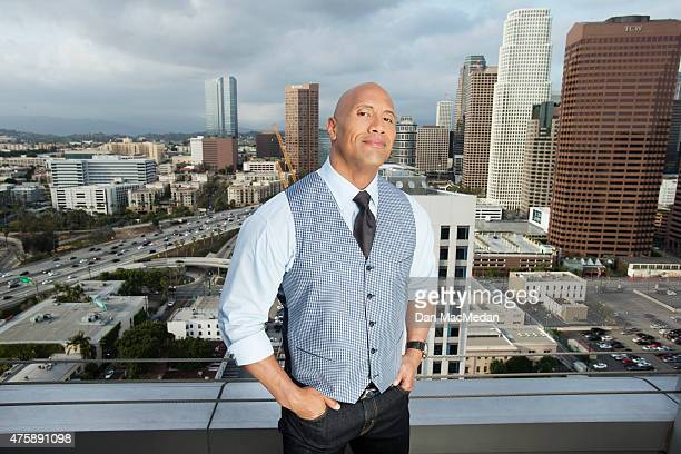 Actor Dwayne Johnson is photographed for USA Today on May 16 2015 in Los Angeles California