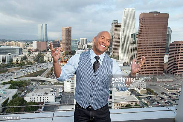 Actor Dwayne Johnson is photographed for USA Today on May 16 2015 in Los Angeles California PUBLISHED IMAGE