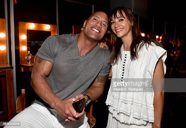 Actor Dwayne Johnson of MOANA and writer Rashida Jones of TOY STORY 4 took part today in 'Pixar and Walt Disney Animation Studios The Upcoming Films'...