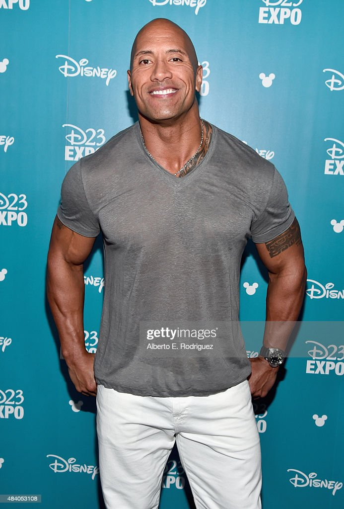 Actor Dwayne Johnson of MOANA took part today in 'Pixar and Walt Disney Animation Studios: The Upcoming Films' presentation at Disney's D23 EXPO 2015 in Anaheim, Calif.