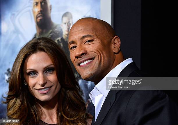 Actor Dwayne The Rock Johnson and Lauren Hashian arrive at the Premiere of Paramount Pictures' 'GI Joe Retaliation' at TCL Chinese Theatre on March...