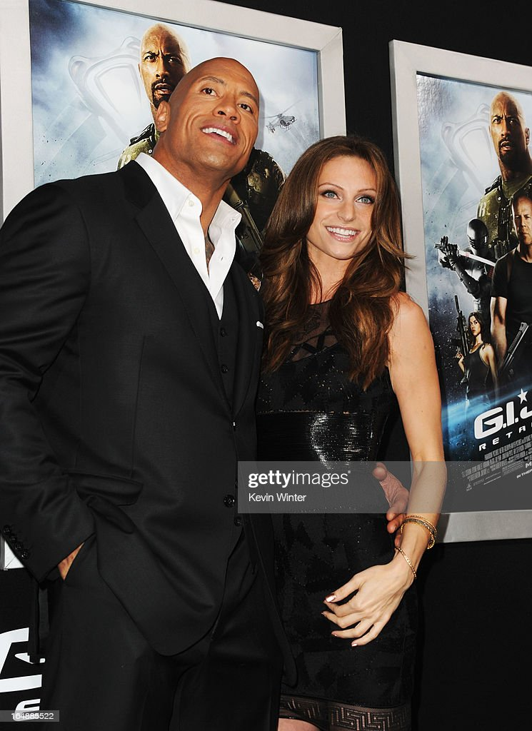 Actor Dwayne 'The Rock' Johnson and Lauren Hashian attend the premiere of Paramount Pictures' 'G.I. Joe:Retaliation' at TCL Chinese Theatre on March 28, 2013 in Hollywood, California.