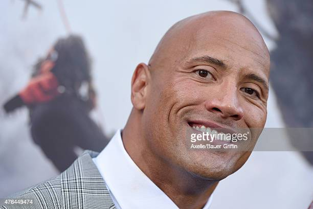Actor Dwayne 'The Rock' Johnson arrives at the Premiere Of Warner Bros Pictures' 'San Andreas' at TCL Chinese Theatre on May 26 2015 in Hollywood...