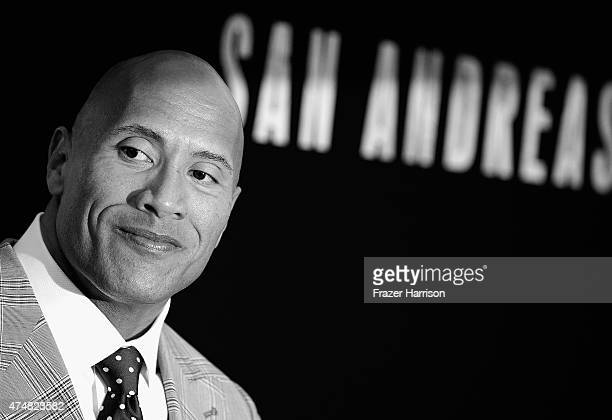 Image processed using digital filters Actor Dwayne 'The Rock' Johnson attends the Premiere Of Warner Bros Pictures' 'San Andreas' at TCL Chinese...