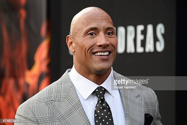 Actor Dwayne 'The Rock' Johnson attends the Premiere Of Warner Bros Pictures' 'San Andreas' at TCL Chinese Theatre on May 26 2015 in Hollywood...