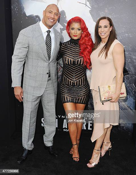 Actor Dwayne 'The Rock' Johnson Eva Marie and Dany Garcia arrive at the Premiere Of Warner Bros Pictures' 'San Andreas' at TCL Chinese Theatre on May...